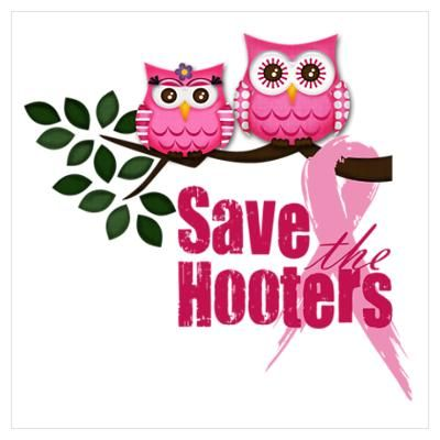 Save the Hooters Breast Cancer awareness month t-shirt pink ribbon tee shirt