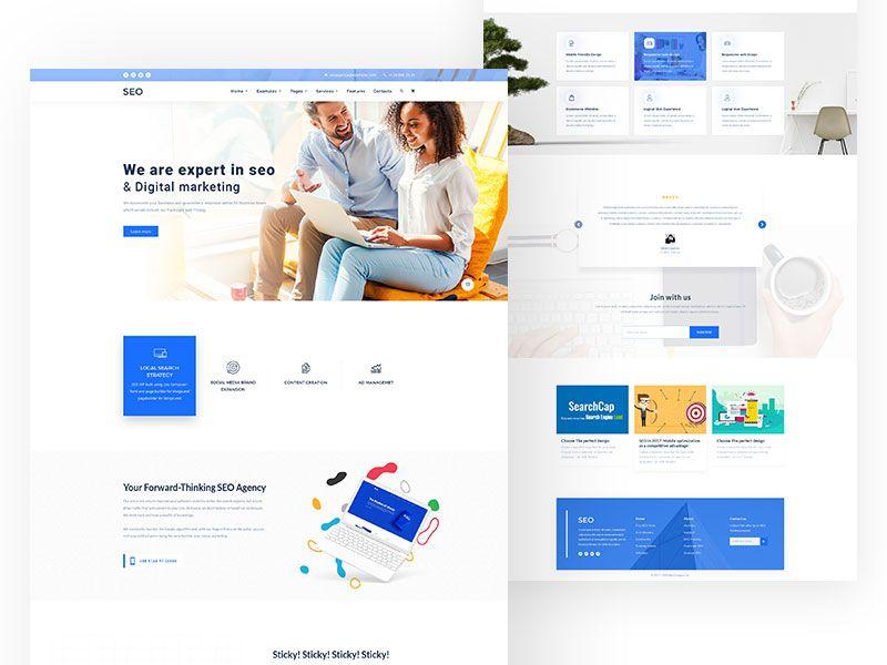 Digital Marketing Home Page Concept Digital Marketing Seo Digital Marketing Digital