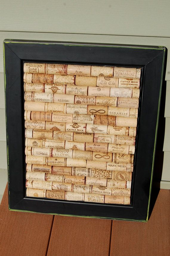Wine Cork Board from httpwwwetsycomlisting95942935wine lover upcycled black framed wine Wine