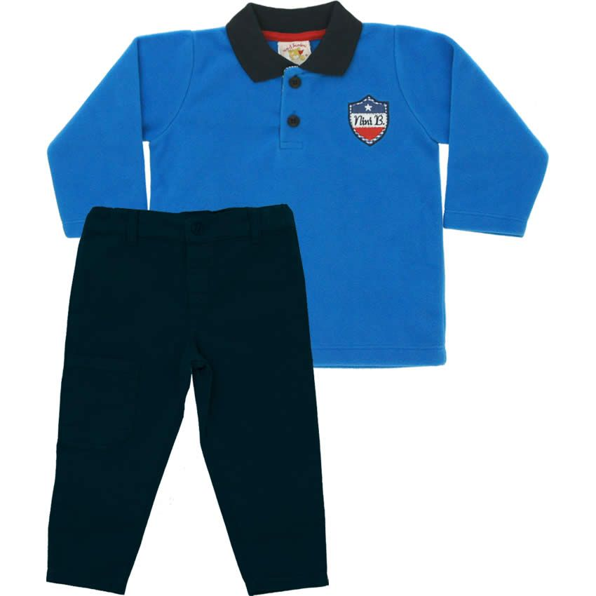 Conjunto Infantil Menino Soft Azul - Nini & Bambini :: 764 Kids | Roupa bebê e infantil