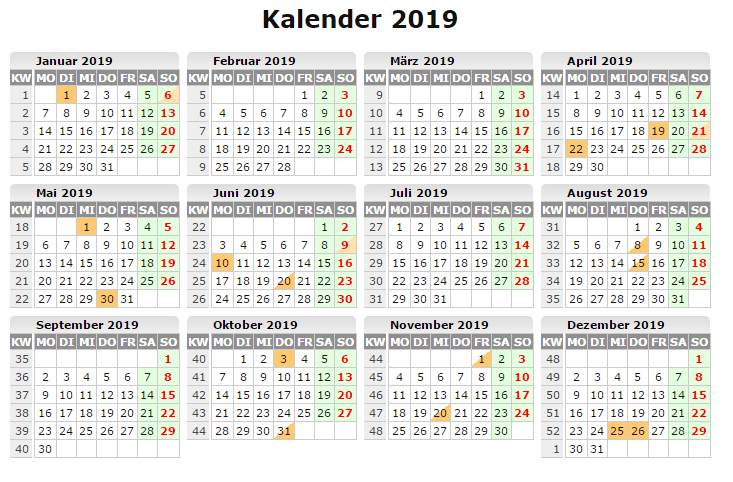 Kalender 2019 Word | Calendar, Words, Periodic table