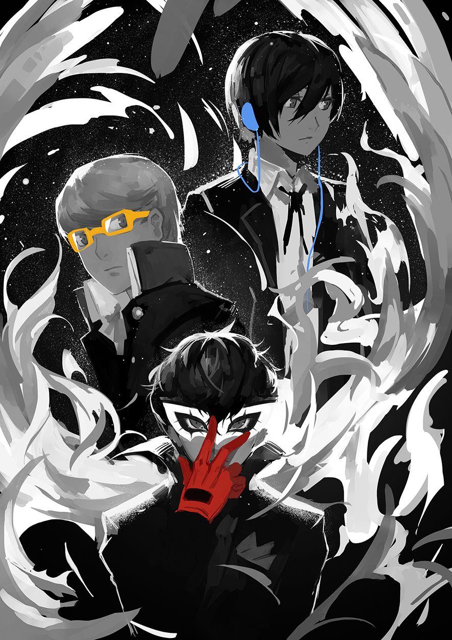 ペルソナ3 Red Blue Yellow 3のイラスト Persona Persona Crossover