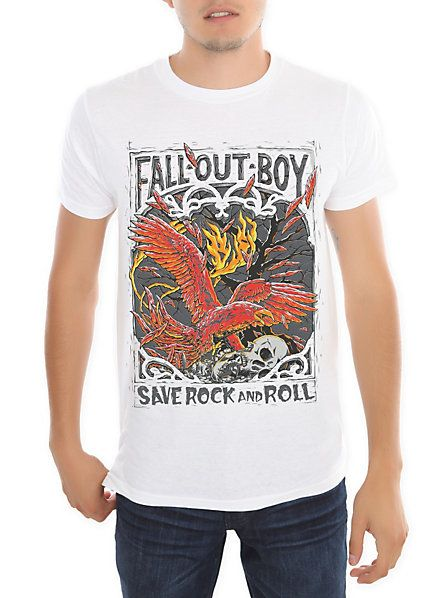 c5865708e8ac3 Fall Out Boy Save Rock And Roll Slim-Fit T-Shirt