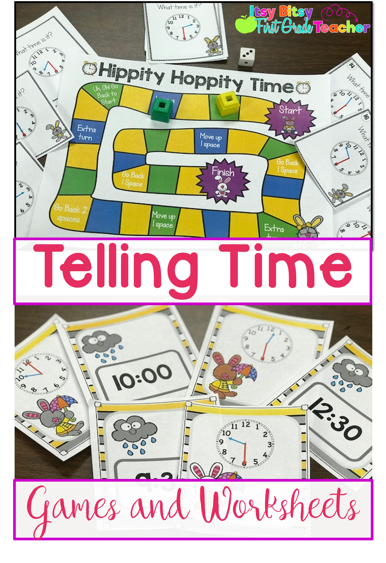 Telling Time To The Half Hour Games