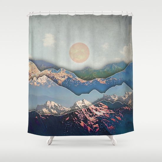 Buy Shower Curtains Featuring Rolling Mountains By Amanda Royale