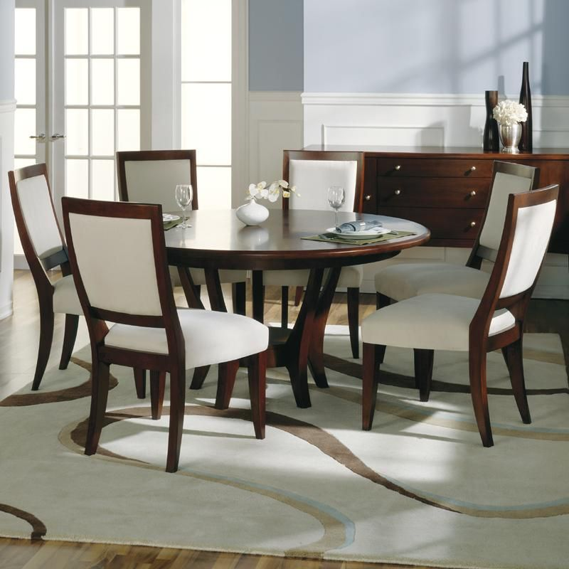 Brilliant Round 6 Seat Dining Table Round Dining Room Sets