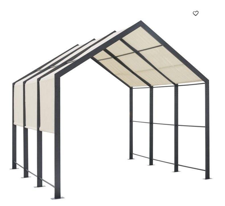 Tonnelle De Jardin Calvi En Aluminium Et Toile Ecrue Tonnelle Maisons Du Monde En 2020 Maison Du Monde Tonnelle Jardin Maison