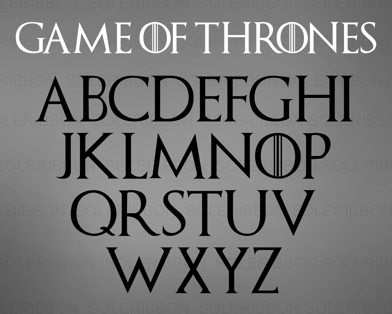 Game of Thrones Font Svg GOT Font, Game Of Thrones Svg