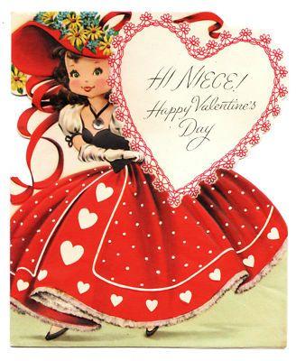 Niece Valentine Vintage Valentine Cards Vintage Valentines Valentines Cards