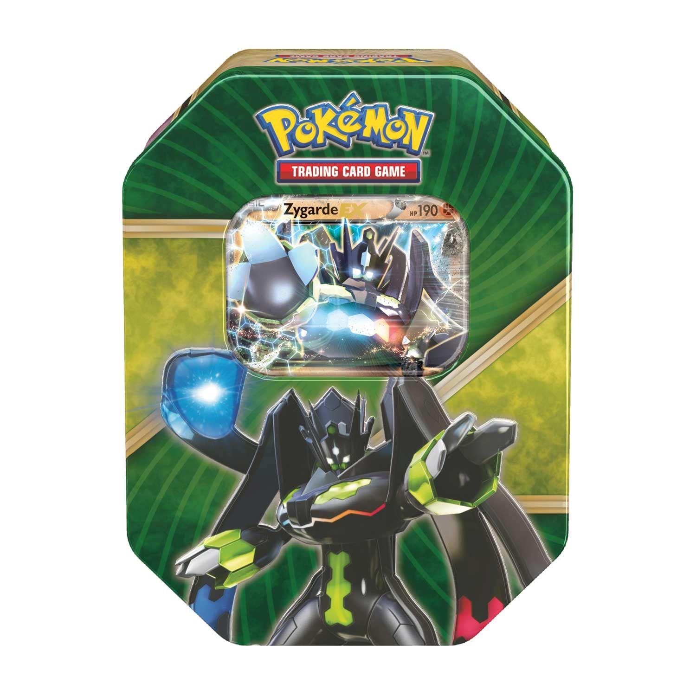 Pokemon Tcg Shiny Kalos Tin Contains A Zygarde Lt I Gt Ex Lt X2f I Gt Card For The Pokemon Trading Pokemon Trading Card Game Pokemon Trading Card Pokemon