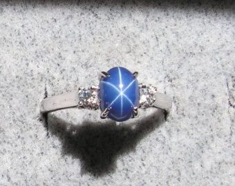 Star Sapphire On Etsy A Global Handmade And Vintage Marketplace Blue Star Sapphire Star Sapphire Ring Blue Star Sapphire Ring