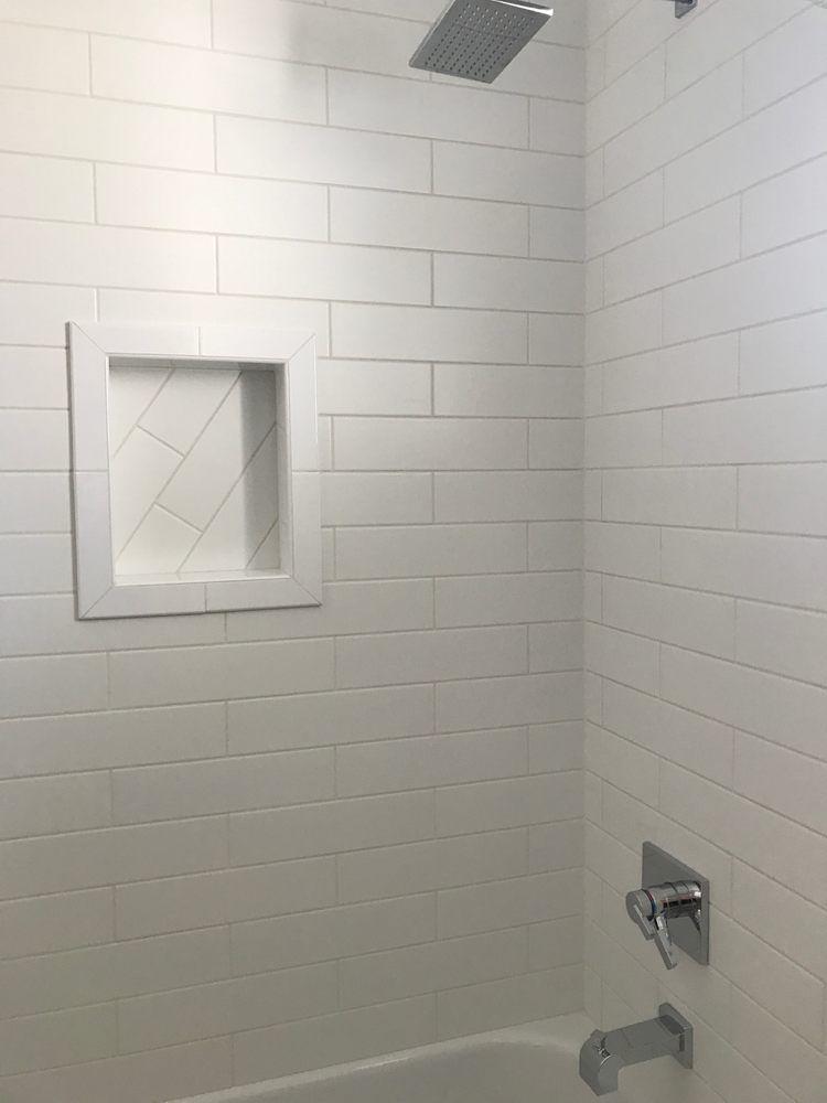 4x16 Matte White Ceramic 1 2 Offset Pattern Wall Patterns Wall Tiles Tile Patterns