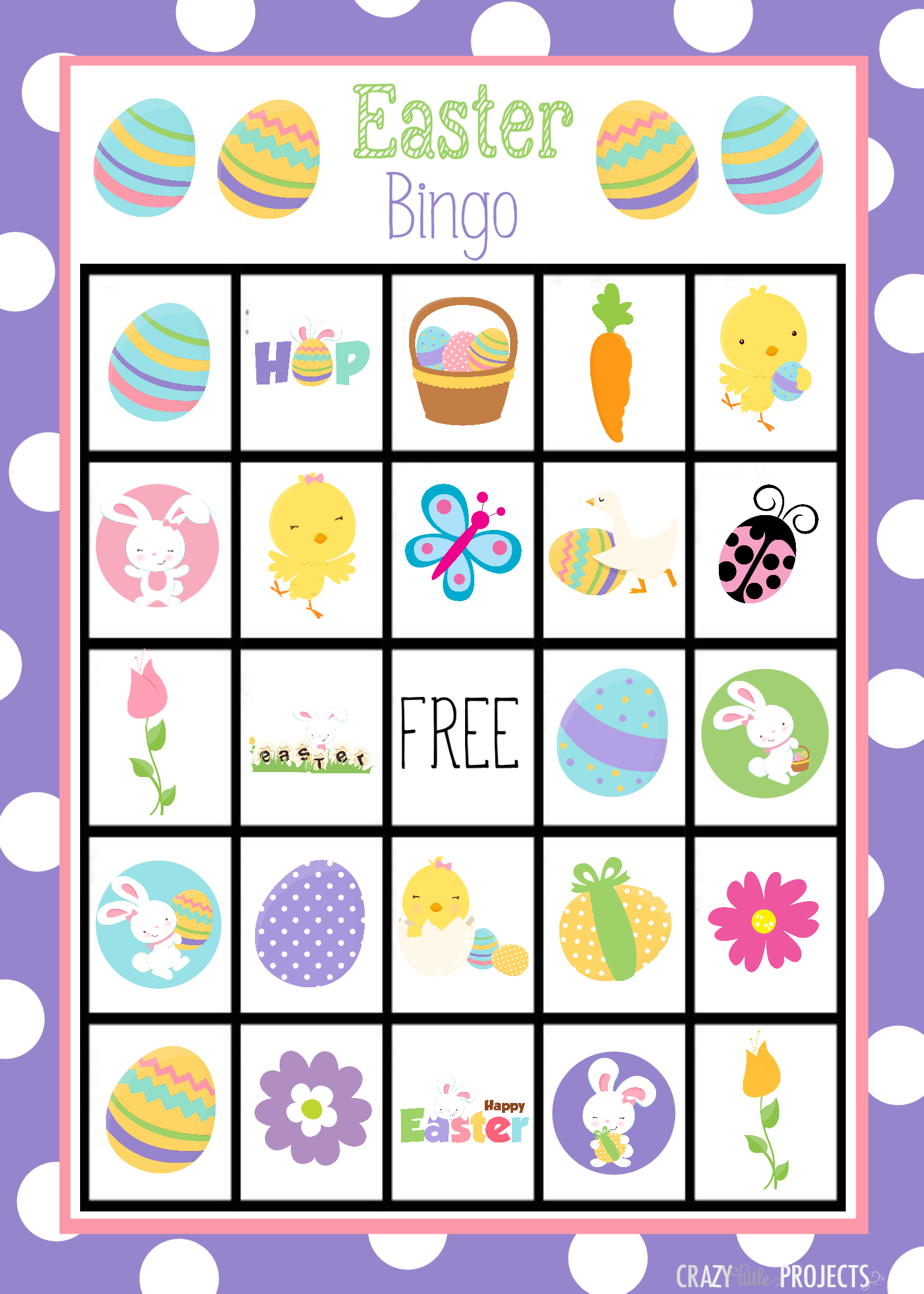 Printable Easter Bingo Game For Kids Easter Ideas Baby Shower