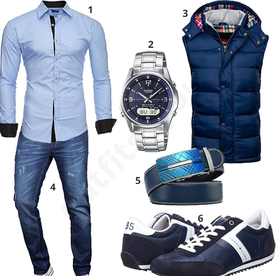 herren outfit mit blauer weste und lederg rtel m0523 business outfit herren pinterest. Black Bedroom Furniture Sets. Home Design Ideas