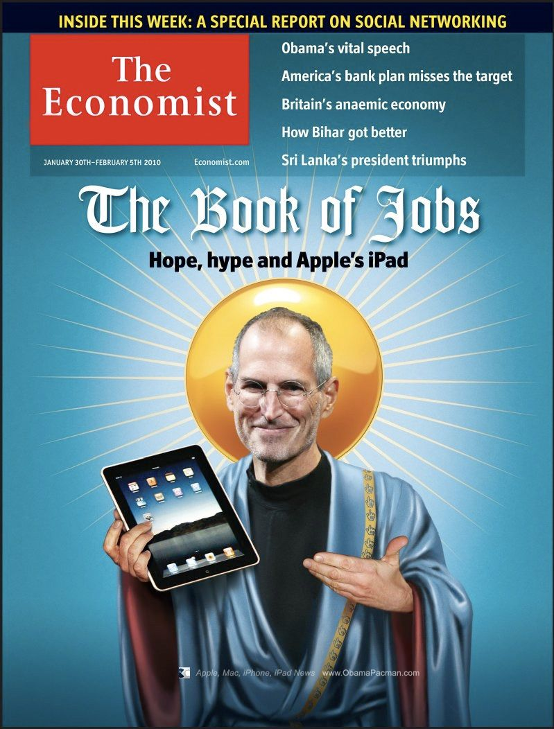 The Book of Job cover by The Economist Steve jobs