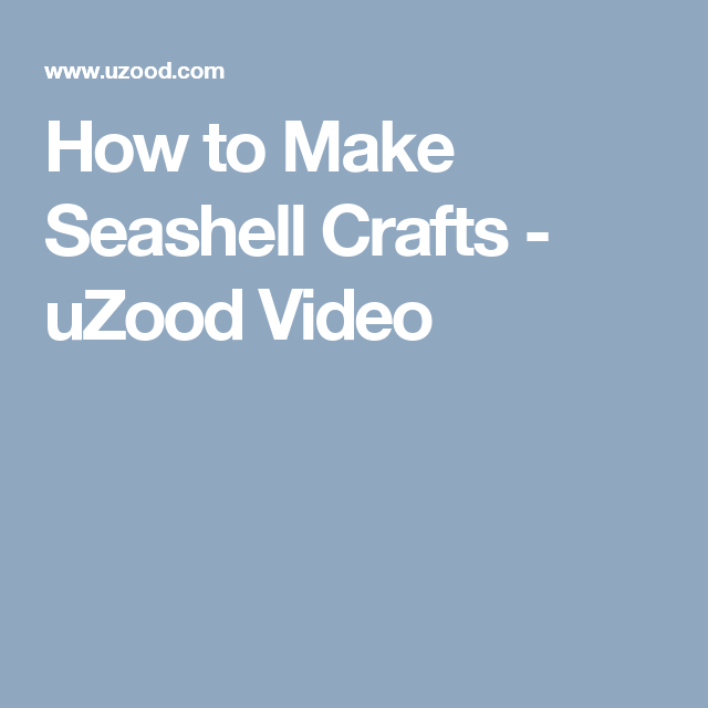 How to make seashell crafts uzood video diy sea shell crafts how to make slipcover patterns dummies ccuart Image collections