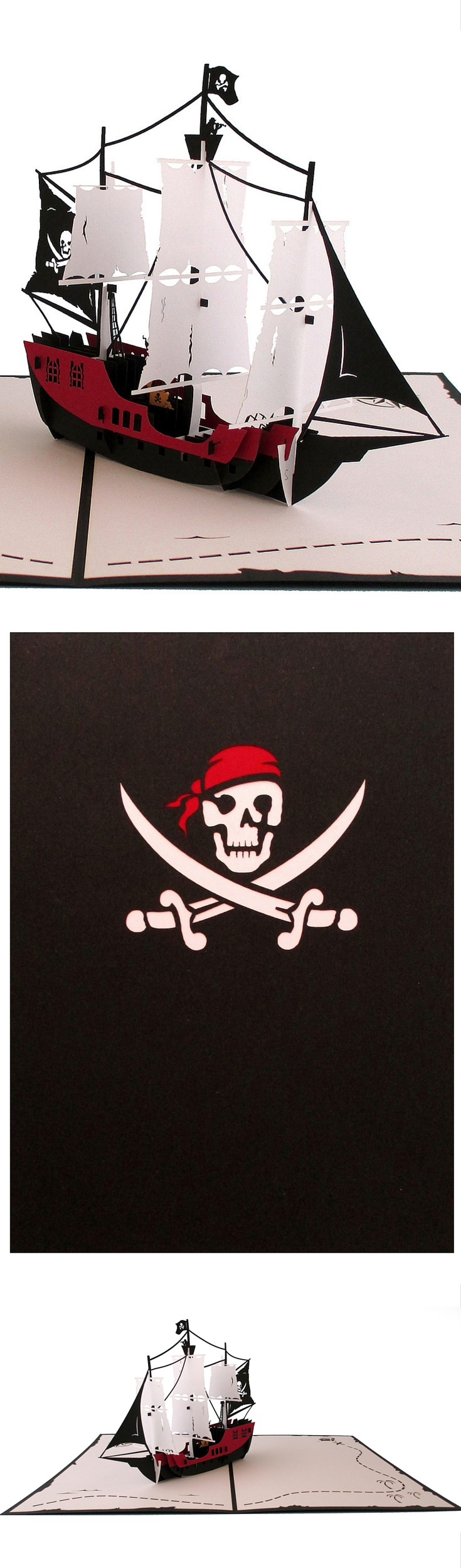 Lovepop's Pirate Ship pop up card is perfect for talk like a pirate day!
