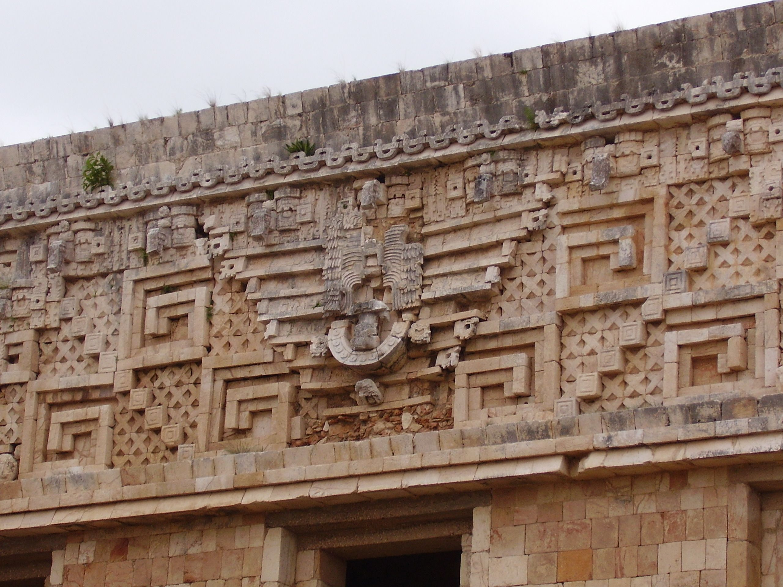 uxmal temple-pyramid, detail | pyramids (egyptian and south