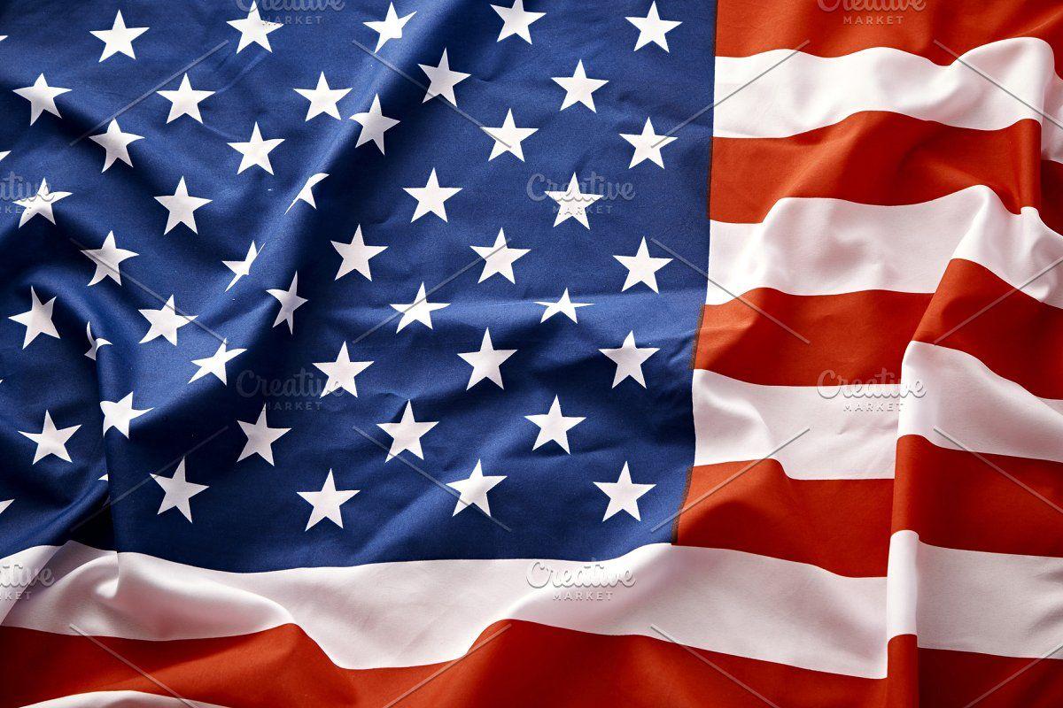 Closeup Of American Usa Flag Stars And Stripes In 2020 Usa Flag Stripes Flag