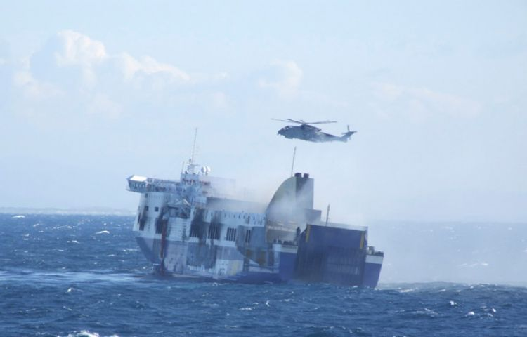 Seamen Killed by Tow Cable to Norman Atlantic Car Ferry | Accidents ...