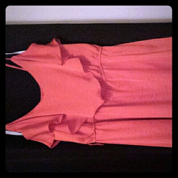 Orange mid thigh dress In great condition only worn a couple times! Bisou Bisou Dresses