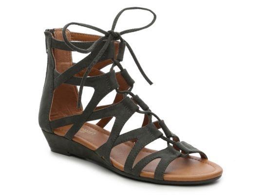 128486749d Women's Crown Vintage Sarah Gladiator Sandal - Olive Green   Products