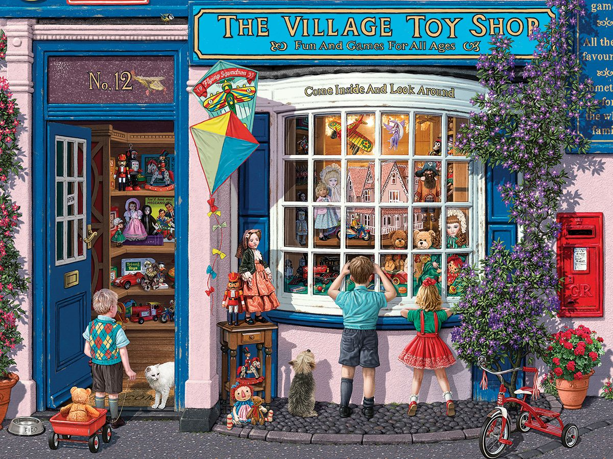 Village Toy Shop - 1000pc Jigsaw Puzzle By White Mountain in
