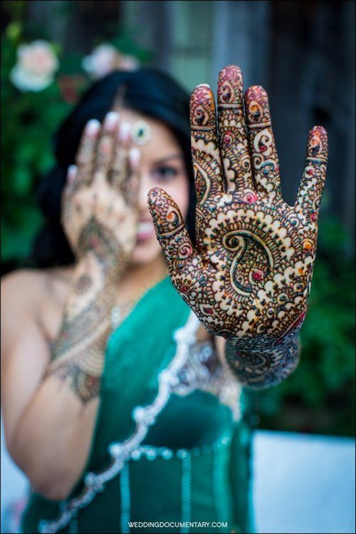 """""""Mehandi is the application of henna as a temporary form of skin decoration in India, Pakistan, Nepal and Bangladesh as well as by expatriate communities from those countries. Henna is typically applied during special occasions like weddings and Muslim festivals such as Eid-ul-Fitr and Eid-ul-Adha as well as in Hindu festivals like Karva Chauth, Diwali, Bhaidooj and Teej."""""""
