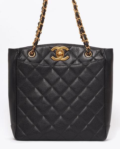 6de3e83198f8 Vintage Chanel caviar skin CC shoulder tote | CHANEL | Vintage ...