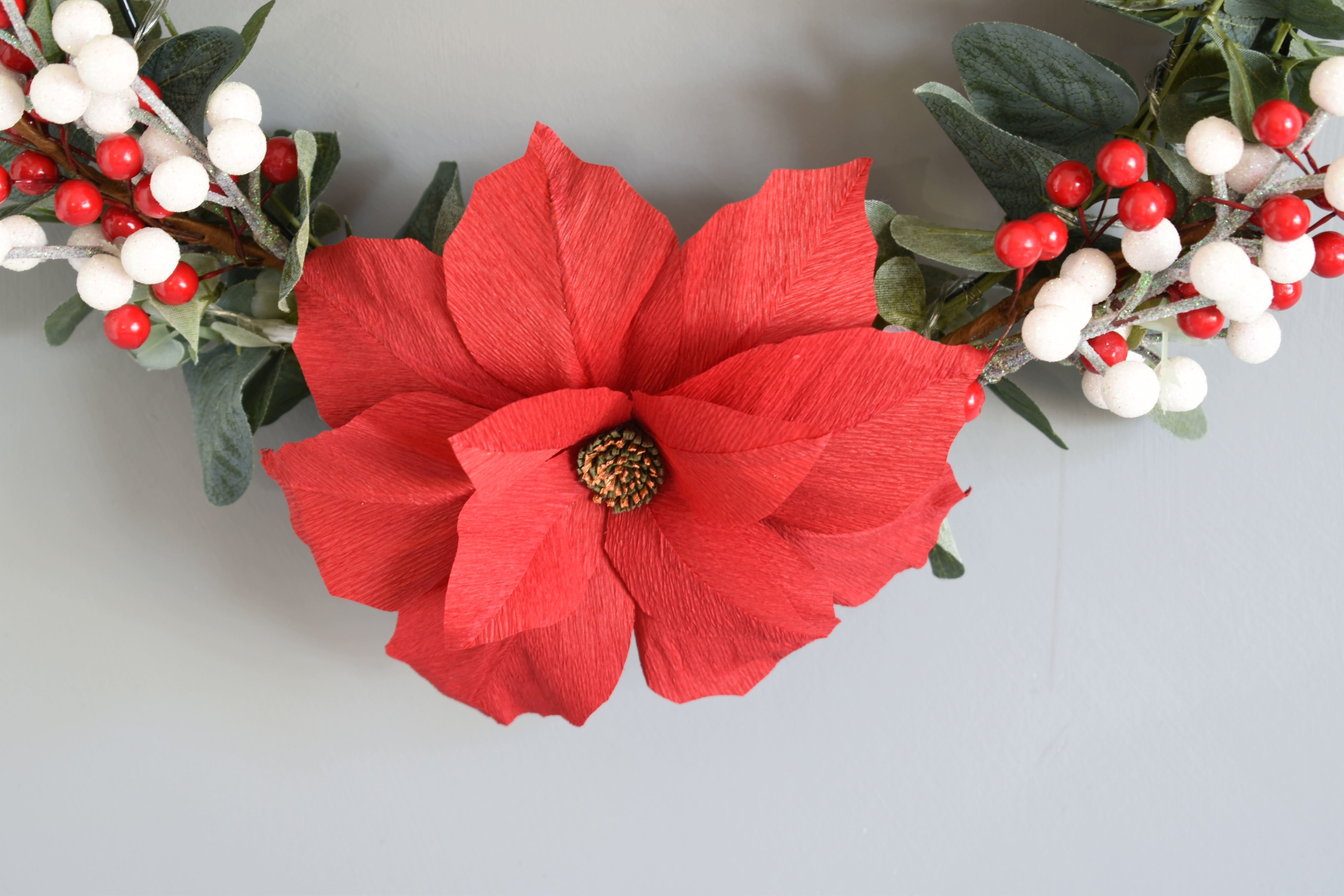 Crepe Paper Poinsettia Aaa Fall And Winter Paper Flowers Paper
