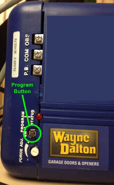 Program Button On A Wayne Dalton Prodrive Classic Drive And Quantum Unit Located Below The Terminal Wayne Dalton Wayne Dalton Garage Doors Garage Door Parts