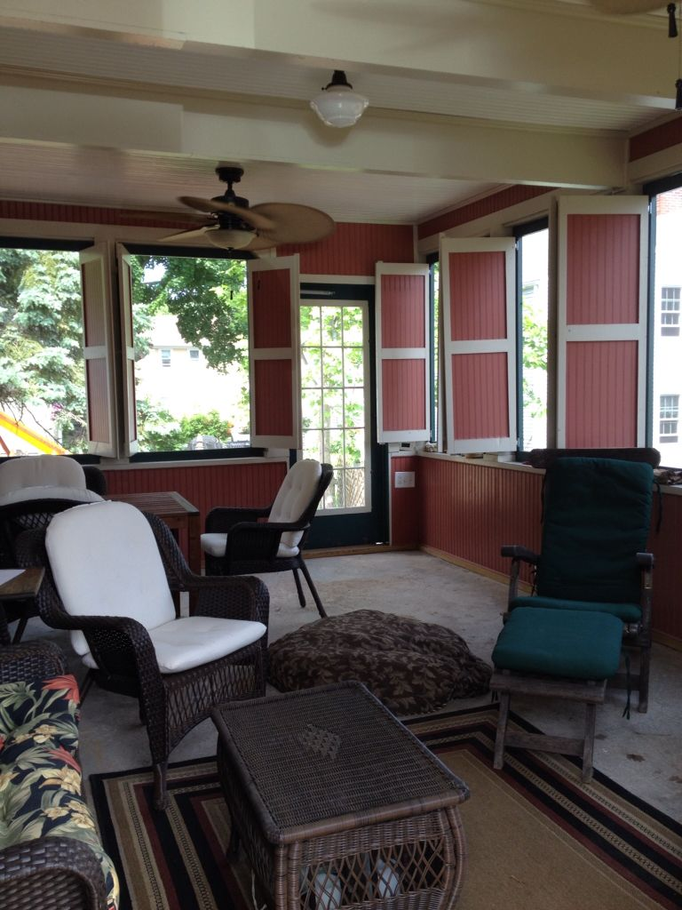 The Screen Porch That Doubles As A Closed Carport In The Winter