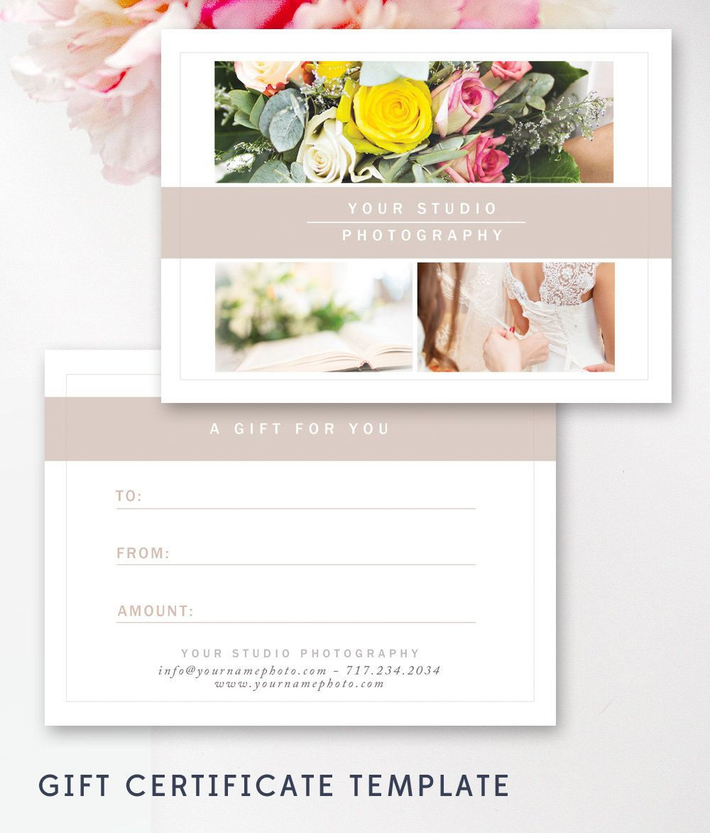 Photography Gift Certificate Template Photography Pinterest