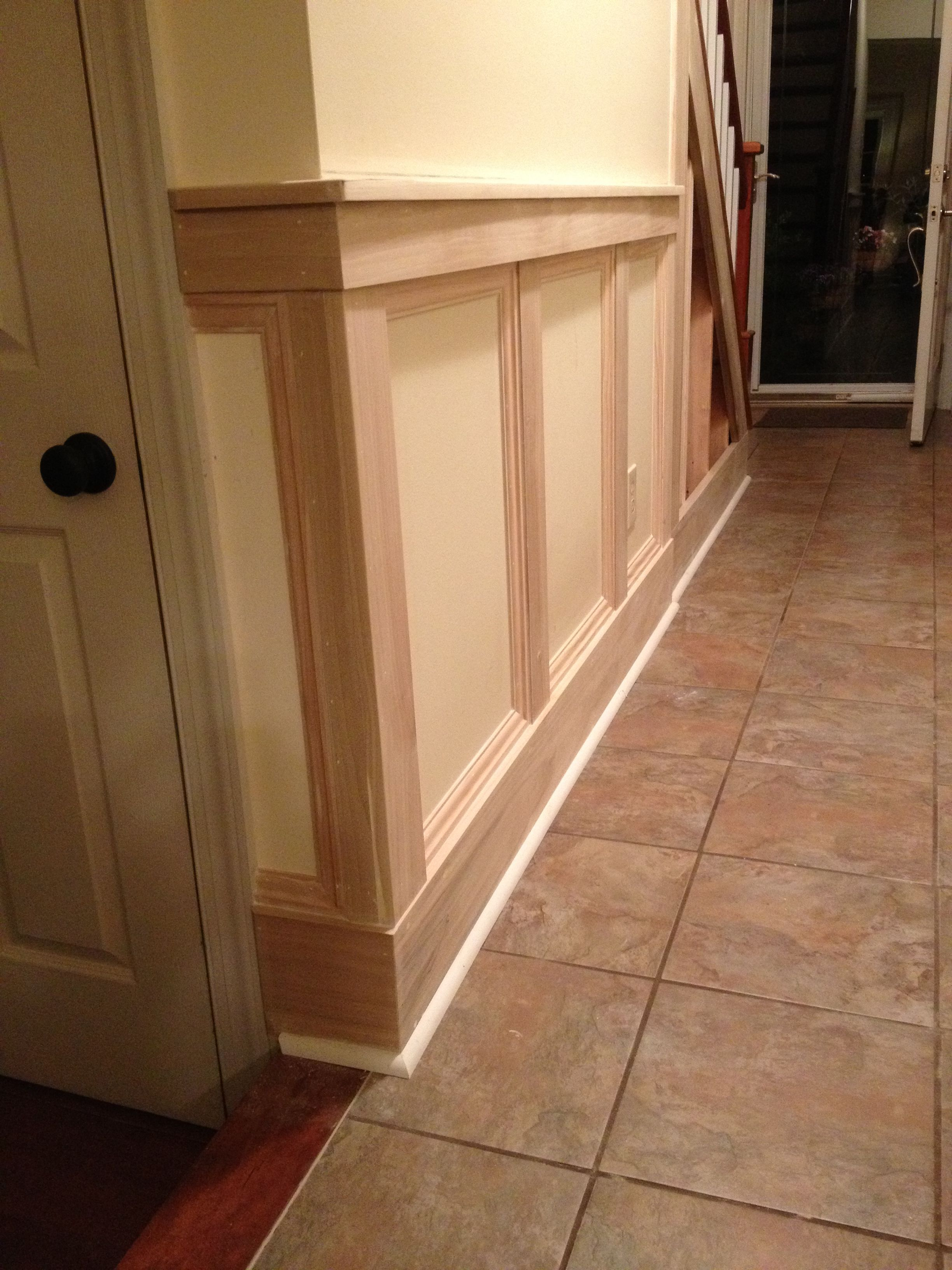 My First Attempt At Wainscoting #Squarewainscoting