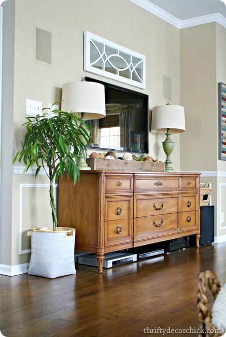 Diy Ombre Effect Trendy Living Rooms Tv Decor Decor Around Tv