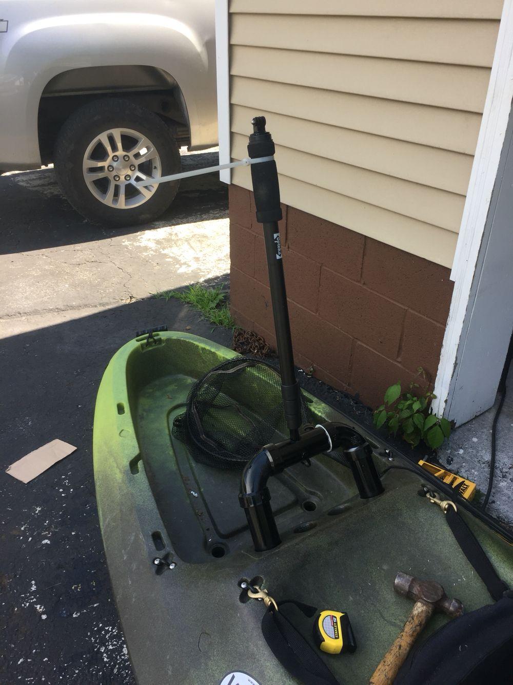 2 inch pvc custom built go pro mount perception kayak | Kayaking
