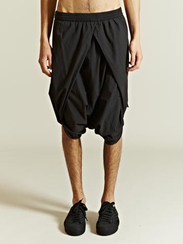 Silent by Damir Doma Drop Crotch Sarong Shorts SS12
