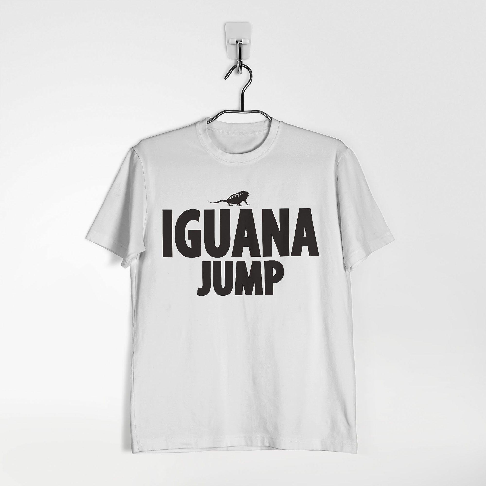 5c9ec7e75 Camiseta branca estampada preta iguana em 2018