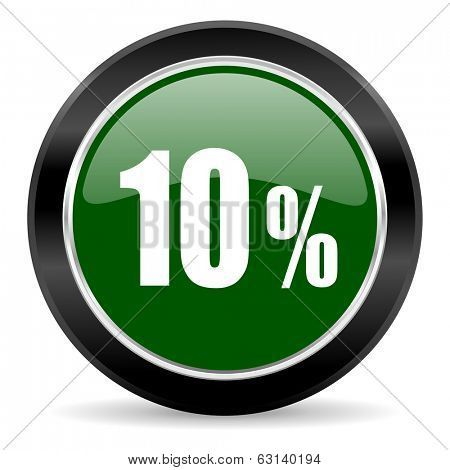 10 percent icon poster, t-shirt, mouse pad