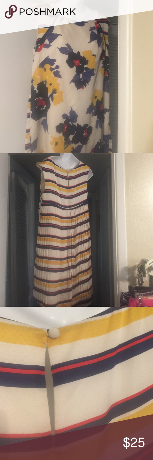 Jessica Simpson floral and striped dress This Jessica Simpson floral and striped dress is lined Jessica Simpson Dresses