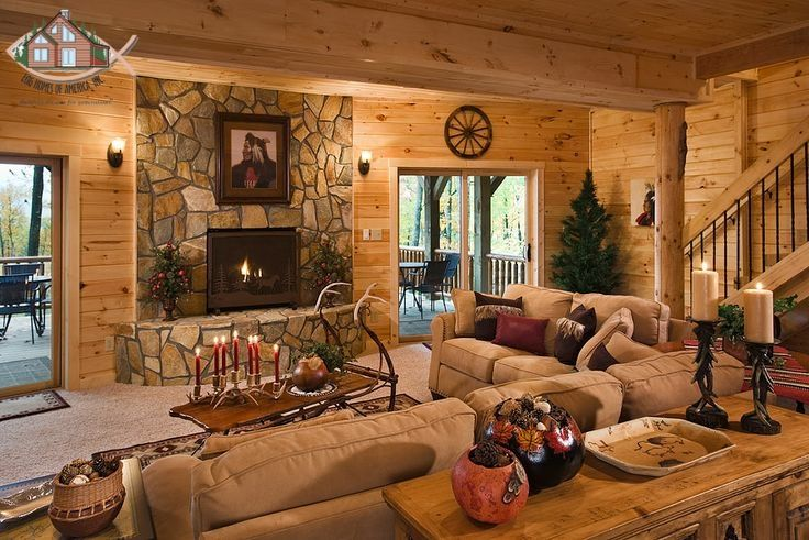 Gas Fireplace Carpeted Walk Out Basement With Rustic Pine Tongue