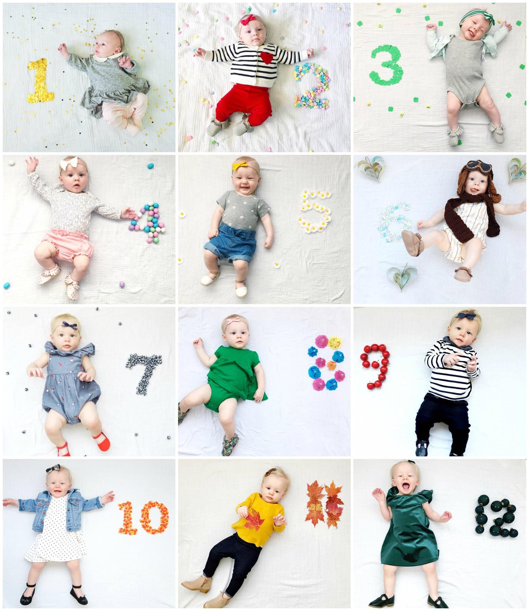 Monthly Baby Photo First Year Stats Monthly Baby Pictures Monthly Baby Photos Creative Monthly Baby Photos