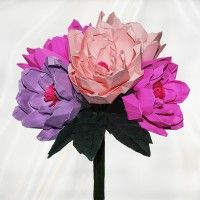 Origami Peonies Bouquet