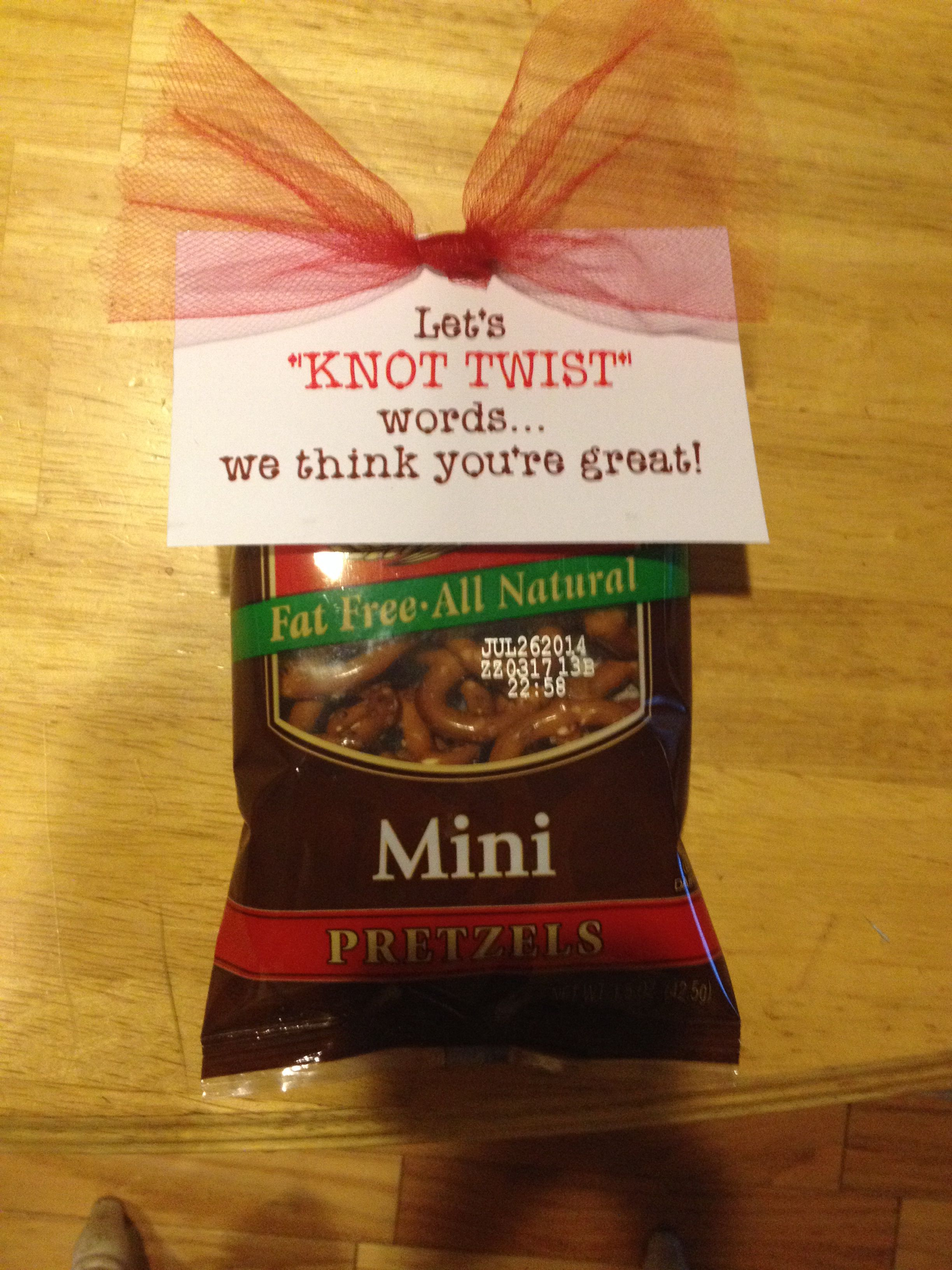 Teacher Appreciation-pretzels | Gifts | Pinterest ...