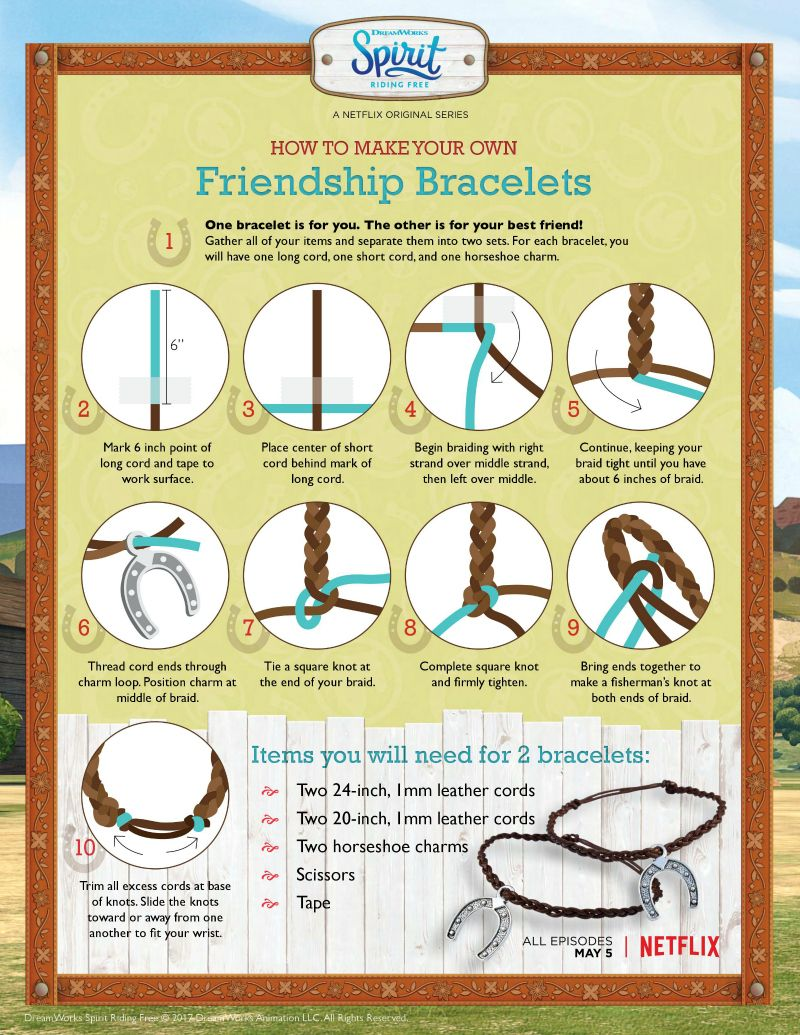Free Spirit Riding Friendship Bracelet Craft