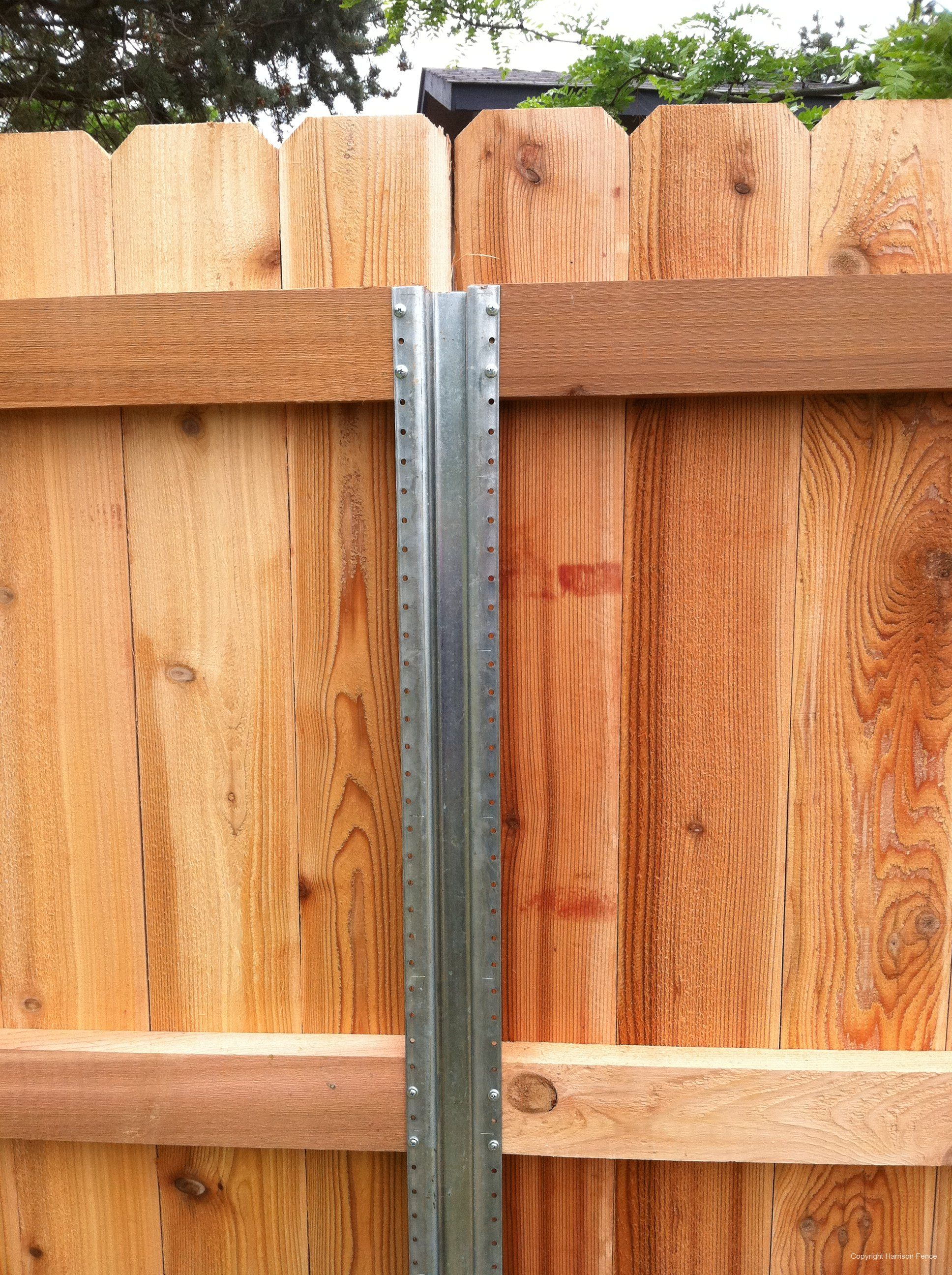 Metal fence post for wood fence | Yard in 2018 | Pinterest ...