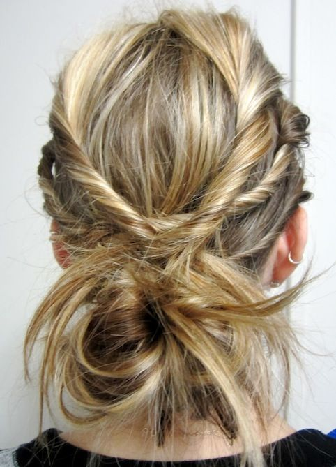 Twisted Hairstyles Weekend Hair Twist Braids Bun  Braided Messy Buns Twisted Braid