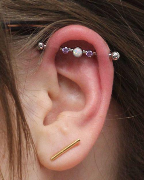 Industrial Piercing By Kaitlin Raison Of Scarab Body Arts Jewelry