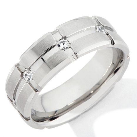 Shop Men's Stainless Steel Crisscross Grooved Eternity 7mm Wedding Band, read customer reviews and more at HSN.com.