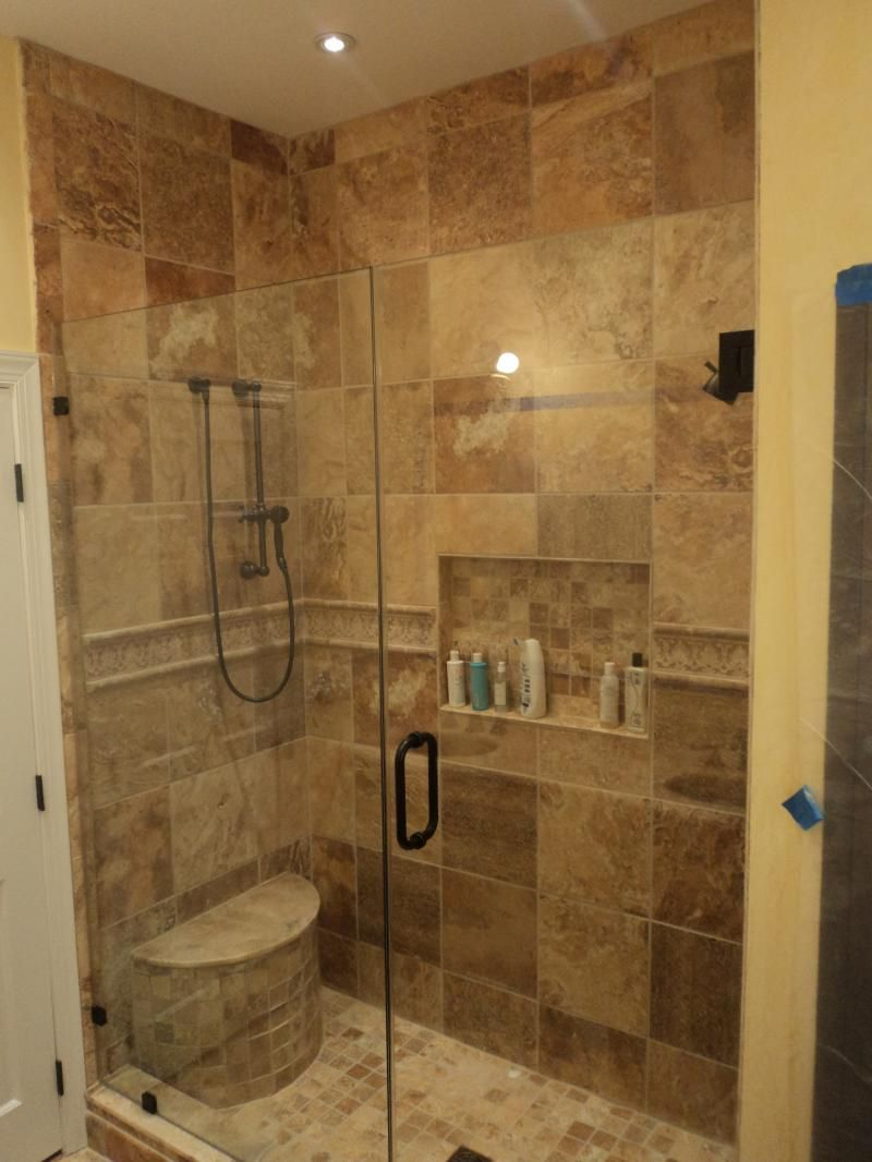 Stand up shower designs bathroom exquisite bathrooms look using rectangular glass shower Glass bathroom design ideas